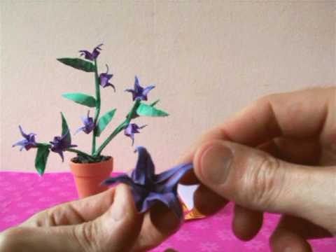 Origami Blue Belladonna Flowers