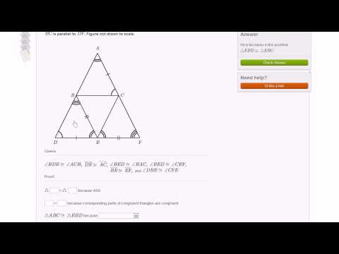 Fill-in-the-blank triangle proofs example 2