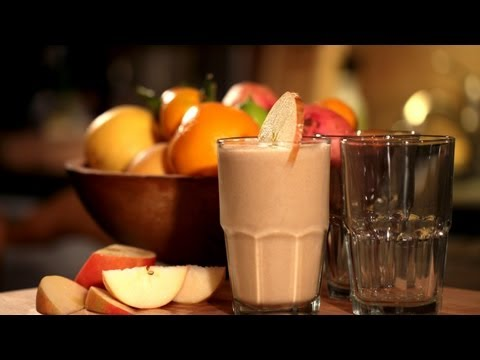 Healthy Apple Banana Smoothie Recipe (Make It) How To    KIN EATS