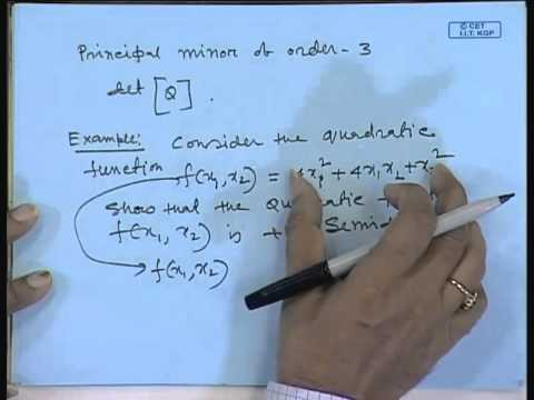 Mod-01 Lec-04 Lecture-04-Optimality Conditions for Function of Several Variables (Contd.)