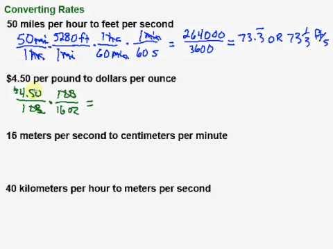 Converting Rates
