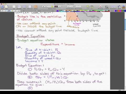 Microeconomics - 98: Consumption possibilities