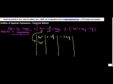 1056. Addition of Algebraic Expressions   Columnar Method