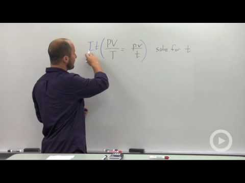 Algebra 2 - Solving a Rational Equation for a parameter