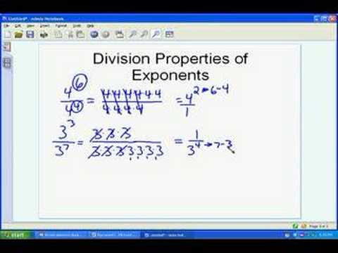 Division of Exponents