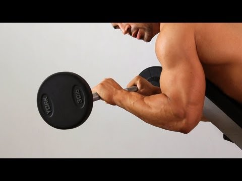 Angled Prone Reverse Curl   Home Arm Workout for Men