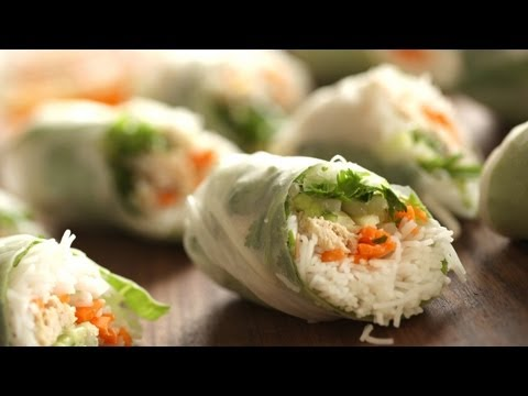 Chicken Summer Rolls Recipe: What's For Dinner TUESDAY || Kin Eats