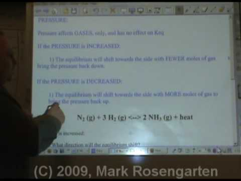 Chemistry Tutorial 9.05b:  Le Chatelier's Principle: Temperature And Pressure