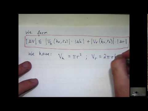 Partial derivatives + error estimation