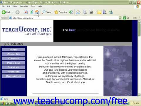 Windows XP Tutorial Antivirus Software Microsoft Training Lesson 7.6