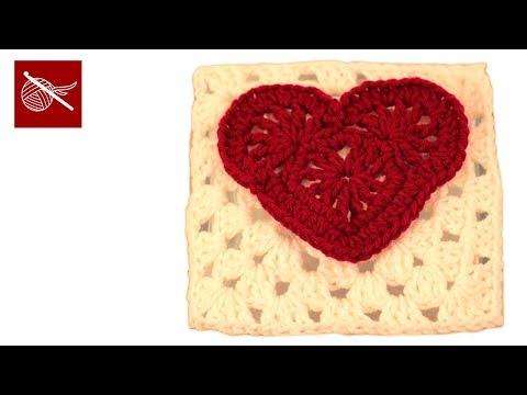 Crochet Geek - Crochet Granny Square Heart Felicity - Crochet Geek