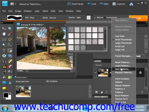 Photoshop Elements 9.0 Tutorial The Pattern Stamp Tools Adobe Training Lesson 13.15