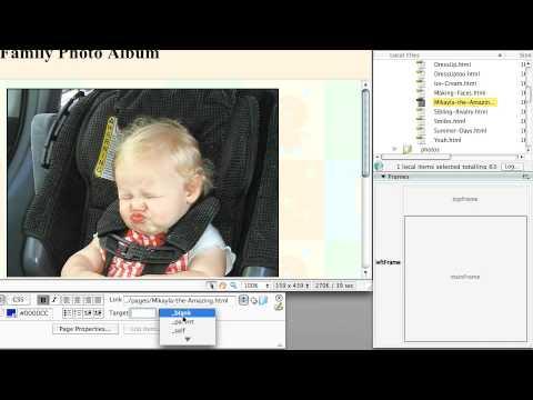 Adobe Dreamweaver CS3: CREATING WEBSITES WITH FRAMES: Targeting Links in Frames