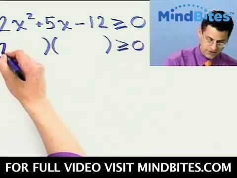 Int Algebra: Solving Quadratic Inequalities