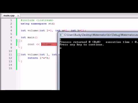 Buckys C++ Programming Tutorials - 28 - Default Arguments / Parameters