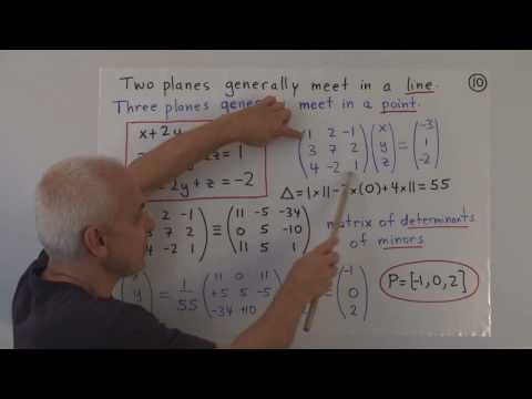 WildLinAlg10d: Equations of lines and planes in 3D (cont.)