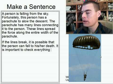 Learn English Make a Sentence and Pronunciation Lesson 84: Parachute