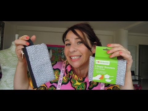 HOW TO MAKE A PURSE OUT OF A KITCHEN SCOURER