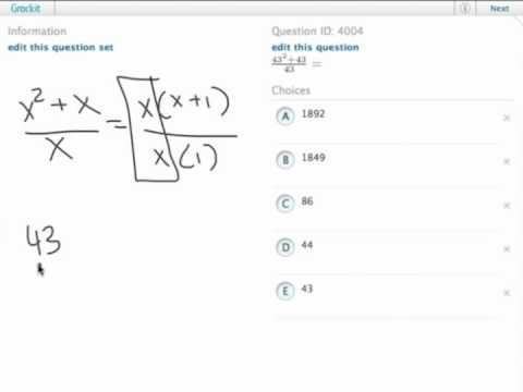 Grockit GMAT Quantitative - Problem Solving: Question 4004