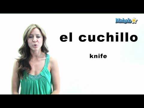 "How to Say ""Knife"" in Spanish"