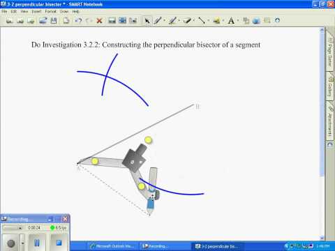 Constructing a Perpendicular Bisector