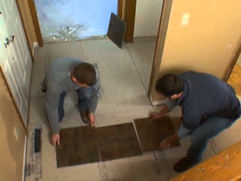Lay Out the Tile Floor Pattern-DIY