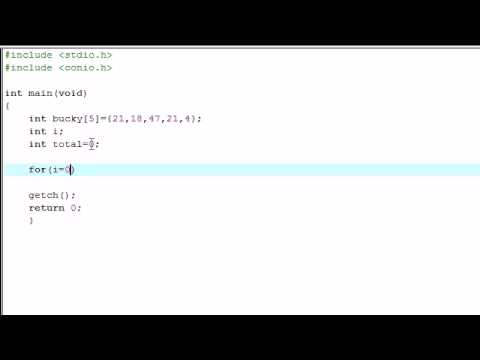 C Programming Tutorial - 15 - Simple Array Program