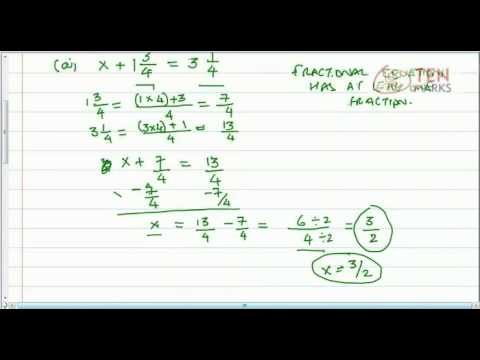 Solve Fractional Equations