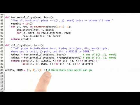 All Plays Solution - CS212 Unit 6 - Udacity