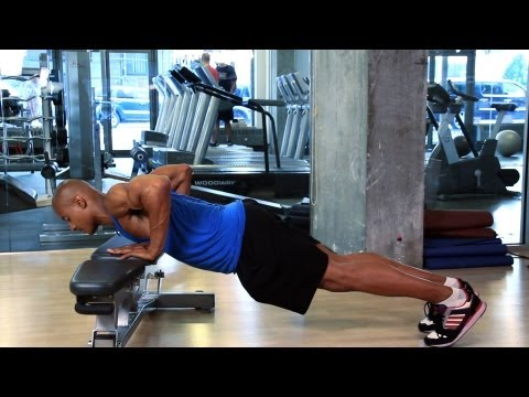 How to Do an Inclined Press Up | How to Work Out at the Gym