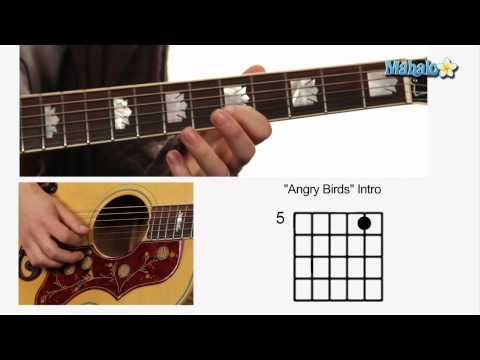 How to Play the Angry Birds Theme Song Intro on Guitar (Part 1)