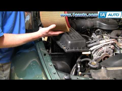 How To Install Replace Air Filter Cleaner Dodge Durango Dakota 98-03 1AAuto.com