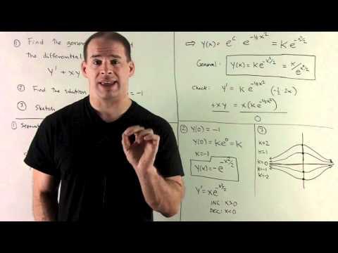 General Solution of y' + xy = 0