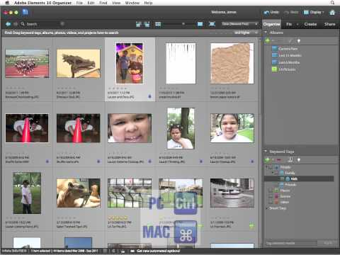 InfiniteSkills Tutorial | Photoshop Elements 10 Training - Adding Keyword Tags to Images
