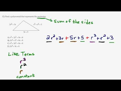 Find Perimeter of a Triangle - Combine Like Terms