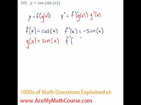 Derivatives - Chain Rule Question #10