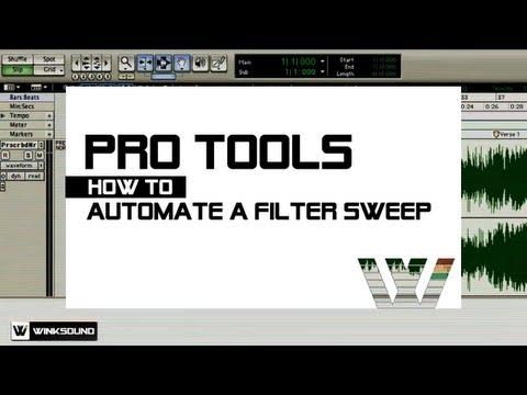 Pro Tools: How To Automate A Filter Sweep | WinkSound