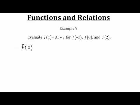 Functions and Relations PT 2