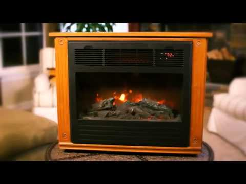 Lifesmart Infrared Electric Fireplace: Warms any Room - The Home Depot