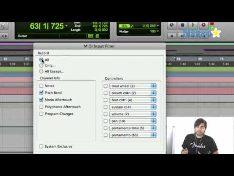 Managing Midi Input Filter - Pro Tools 9