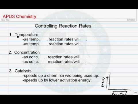 Controlling Reaction Rates