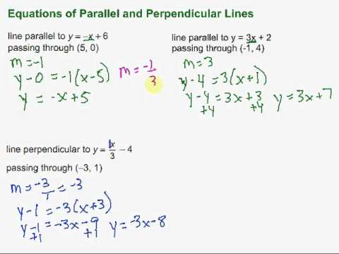 Equations of Parallel & Perpendicular Lines