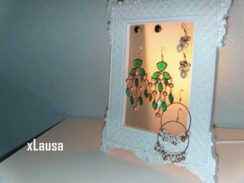 Vintage Earring Holder - Tutorial