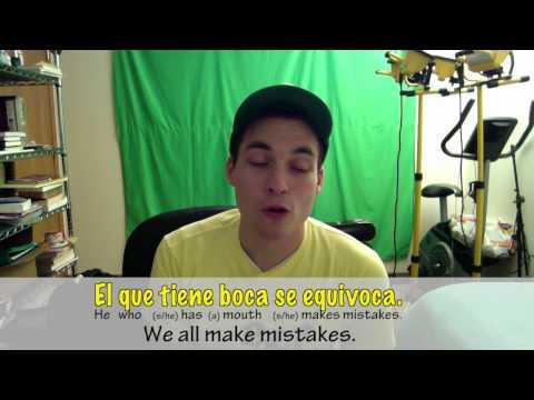 La Frase del Día - Día ciento dieciséis - Everyone makes mistakes