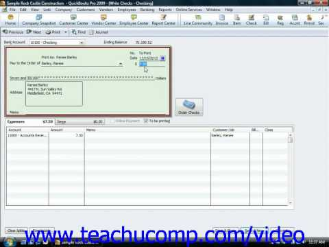 QuickBooks Tutorial Refunding Customer Payments Intuit Training Lesson 11.2