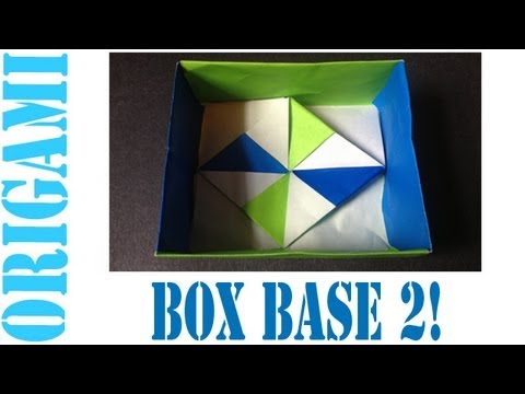 Origami Daily - 011: Square Box Base (Pinwheel - Ver. 2) - TCGames [HD]