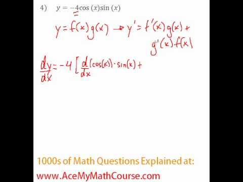 Derivatives - Product & Quotient Rule Question #4