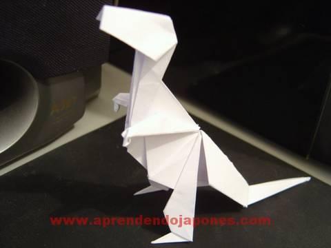 Origami T-Rex - Tiranossauro de Origami (John Montroll)