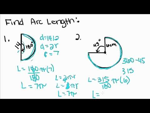 Geometry - 15 - Arc Length and Sector Area