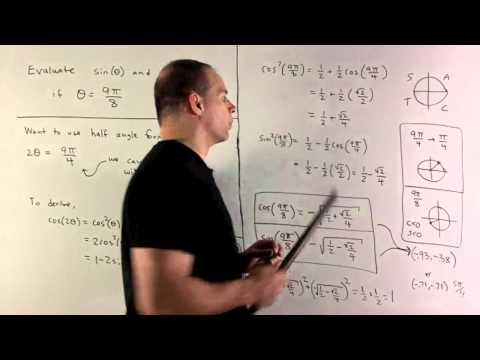 Example of Half Angle Formula